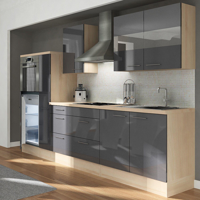 respekta premium k chenzeile rp300hag 300 cm grau akazie nachbildung kaufen bei obi. Black Bedroom Furniture Sets. Home Design Ideas