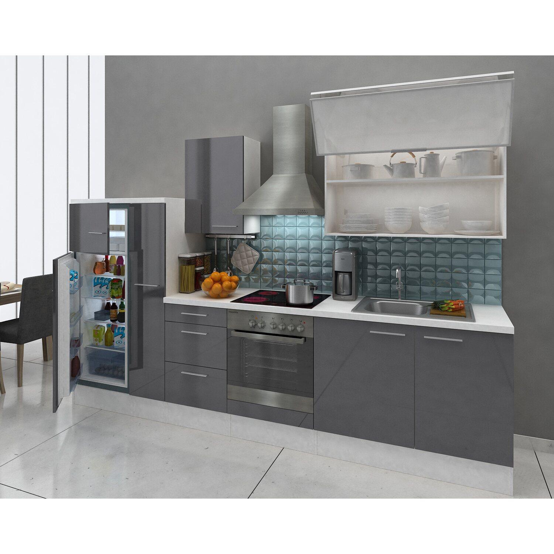 respekta premium k chenzeile rp310wgcgke 310 cm grau wei kaufen bei obi. Black Bedroom Furniture Sets. Home Design Ideas