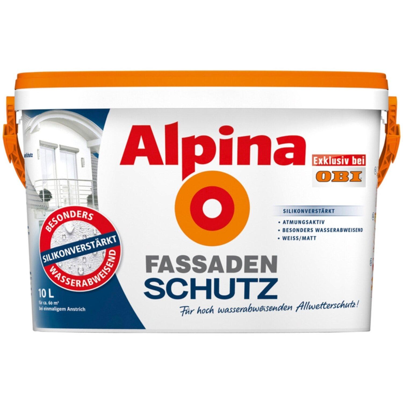Alpina Fassadenschutz Weiß matt 10 l