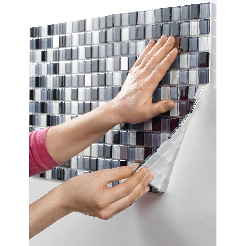 Relativ Glasmosaikmatte Schwarz Selbstklebend 30 cm x 30 cm kaufen bei OBI XM87