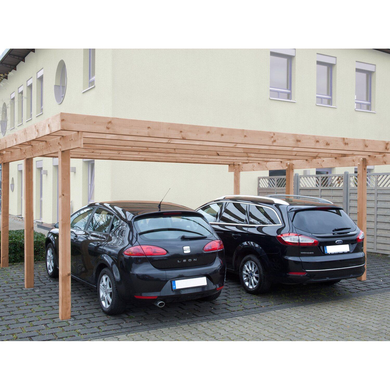 Interessant Doppel-Carport Baltrum 2 Alu Dacheindeckung Douglasie Natur kaufen  BZ47