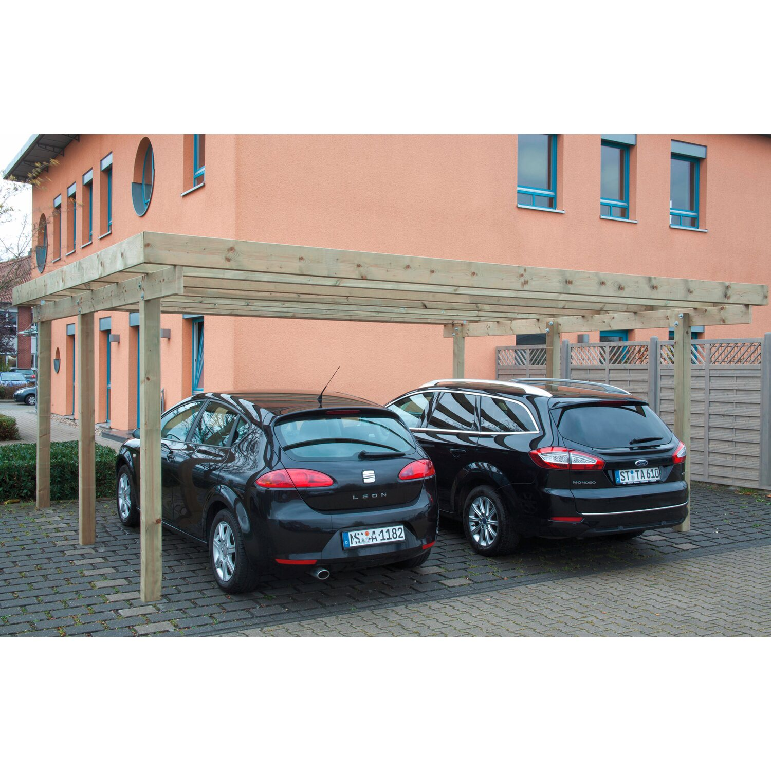 doppel carport baltrum 1 pvc dacheindeckung kdi gr n kaufen bei obi. Black Bedroom Furniture Sets. Home Design Ideas