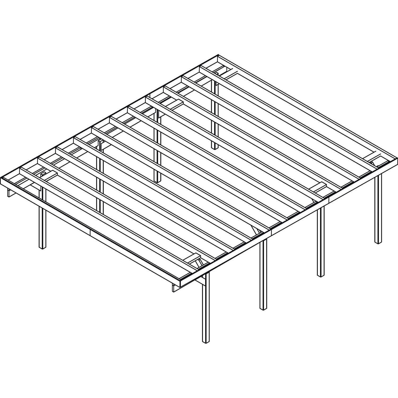 doppel carport baltrum 2 pvc dacheindeckung douglasie natur kaufen bei obi. Black Bedroom Furniture Sets. Home Design Ideas