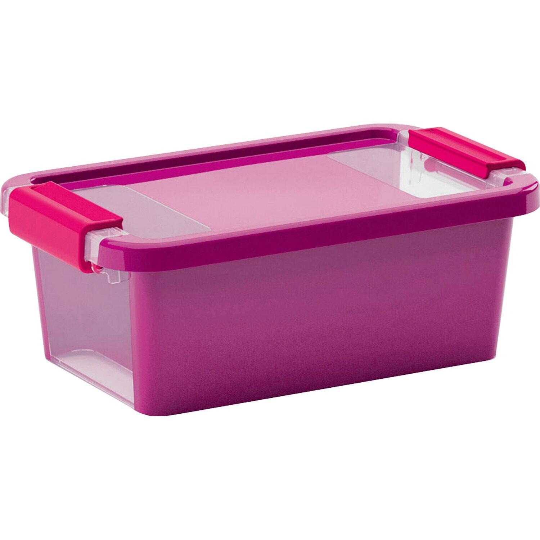 aufbewahrungsbox bi xs mit deckel violett kaufen bei obi. Black Bedroom Furniture Sets. Home Design Ideas