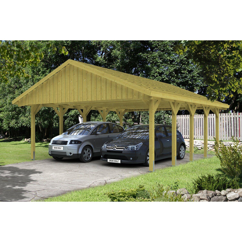 skan holz satteldach doppelcarport sauerland bxt 620 cm x 750 cm mit dachlattung kaufen bei obi. Black Bedroom Furniture Sets. Home Design Ideas