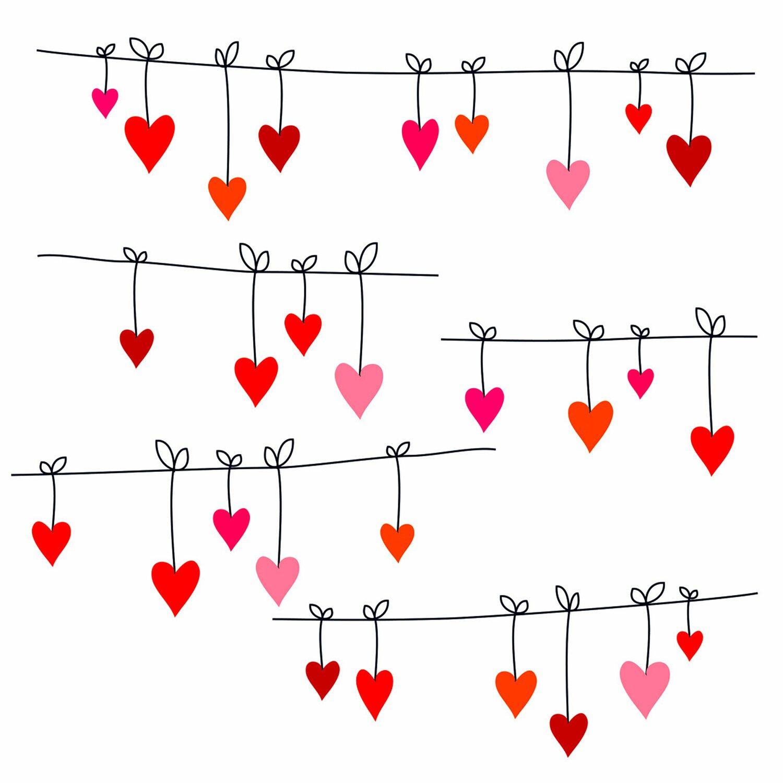 Eurographics  Fenstersticker Hearts Washing Line