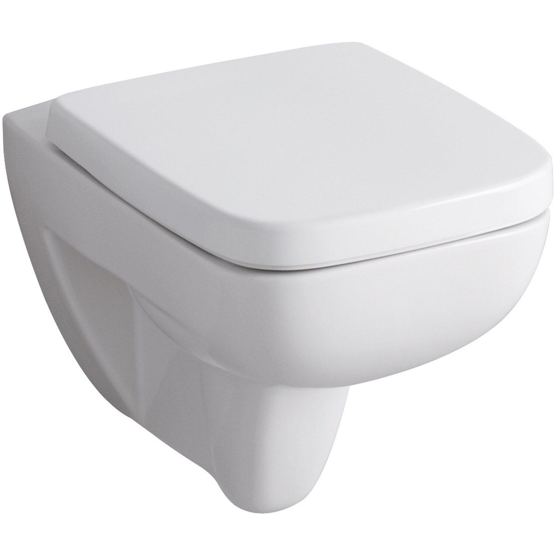 Keramag Wand-WC-Set Spülrandlos Renova Nr.1 Plan mit WC-Sitz