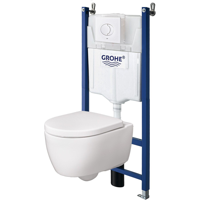 Keramag Wand-WC-Set iCon spülrandlos Weiß inkl. WC-Sitz und TBV | Bad > WCs > WC-Becken | Weiß | Keramag