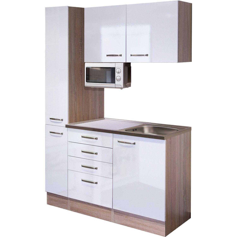 flex well singlek che 130 cm valero hochglanz wei sonoma. Black Bedroom Furniture Sets. Home Design Ideas