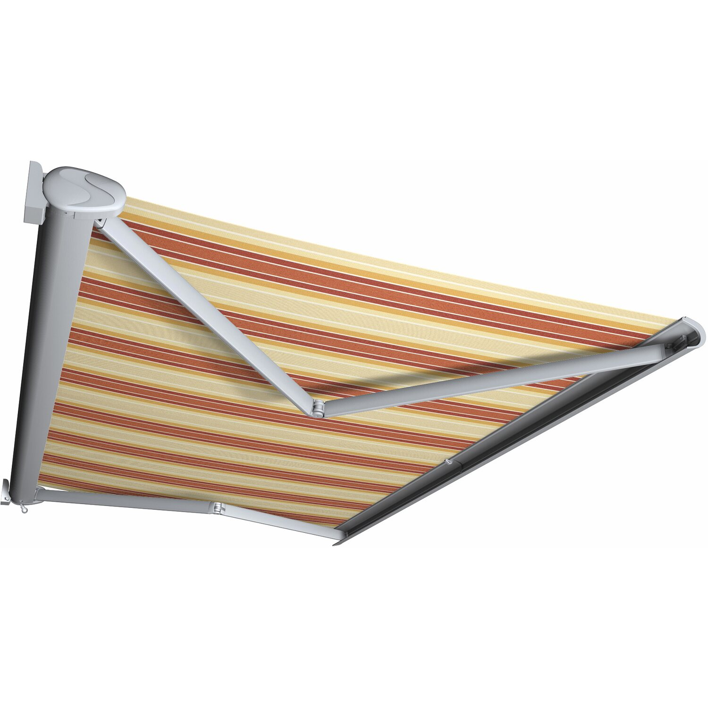 Kassettenmarkise Perform 500 x 300 cm Gestell Silber Tuch Rot-Orange | Garten > Sonnenschirme und Markisen > Markisen | Markisen Spettmann