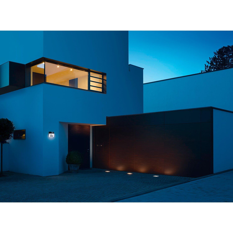 Steinel LED-Hausnummern-Leuchte XSolar LH-N Edelstahl kaufen bei OBI
