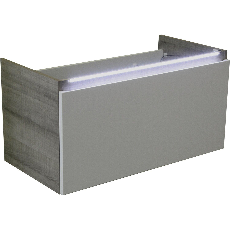 fackelmann waschbeckenunterschrank 85 cm piuro graueiche wei kaufen bei obi. Black Bedroom Furniture Sets. Home Design Ideas