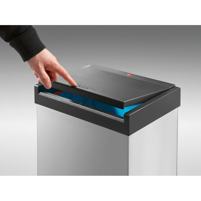 Hailo gro raum m lleimer big box touch 60 l silber kaufen for Box mit deckel 30x30x30