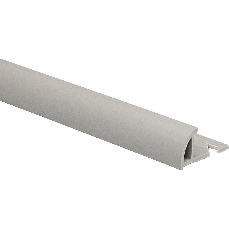 Viertelkreis-Abschlussprofil PVC matt Hellgrau 10 mm x 1 m | Baumarkt > Wand und Decke > Fliesen | Pvc | Arcansas