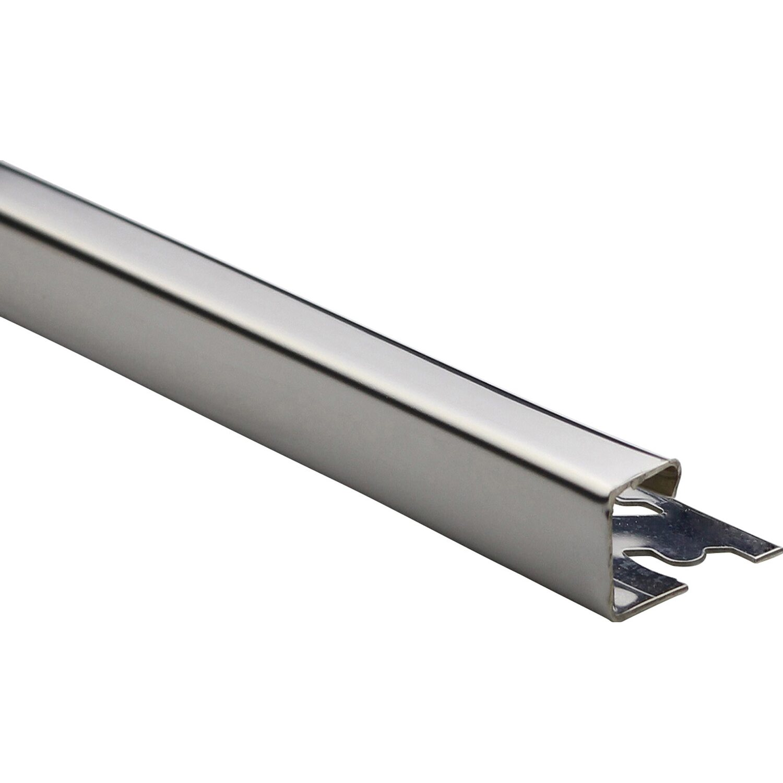 Quadrat-Abschlussprofil Edelstahl poliert 12,5 mm x 2,5 m | Baumarkt > Wand und Decke > Fliesen | Edelstahl - Glänzend | Arcansas