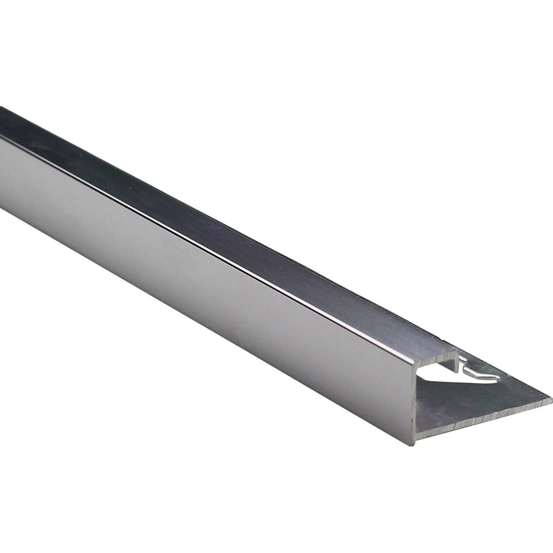 Quadrat Abschlussprofil Alu Eloxiert Silber Glanzend 10 Mm X 2 5 M