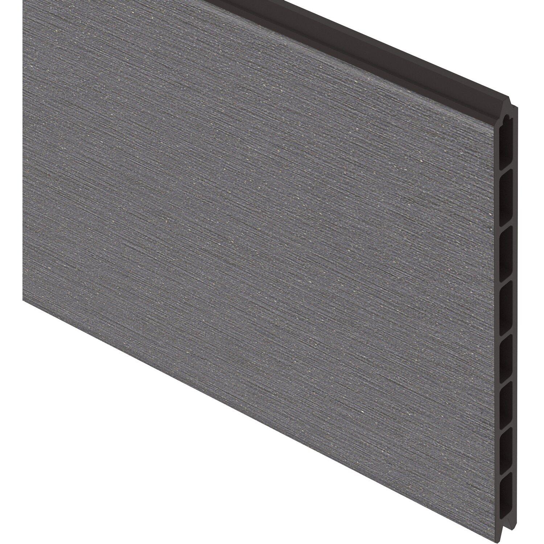 sichtschutzzaun einzelprofil system wpc xl anthrazit 30 cm x 178 cm x 2 cm kaufen bei obi. Black Bedroom Furniture Sets. Home Design Ideas