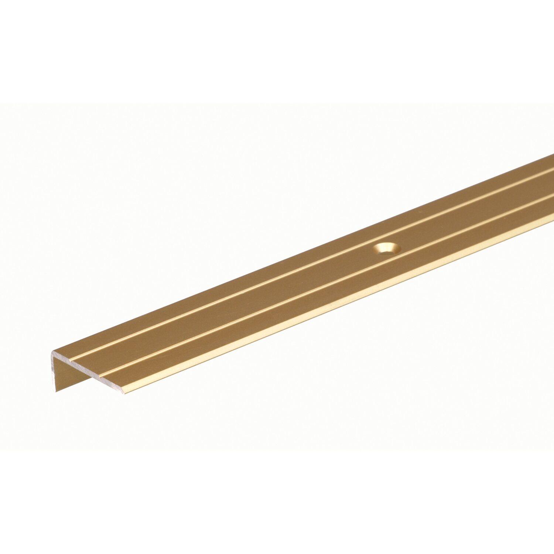 Treppenkanten-Schutzprofil Gold eloxiert 6,3 mm x 23 mm x 1000 mm | Baumarkt > Leitern und Treppen | Goldfarbig | Aluminium