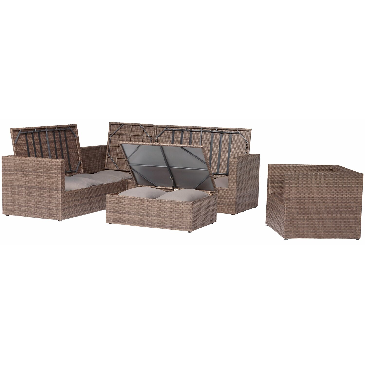 obi gartenm bel gruppe livingston 5 tlg kaufen bei obi. Black Bedroom Furniture Sets. Home Design Ideas
