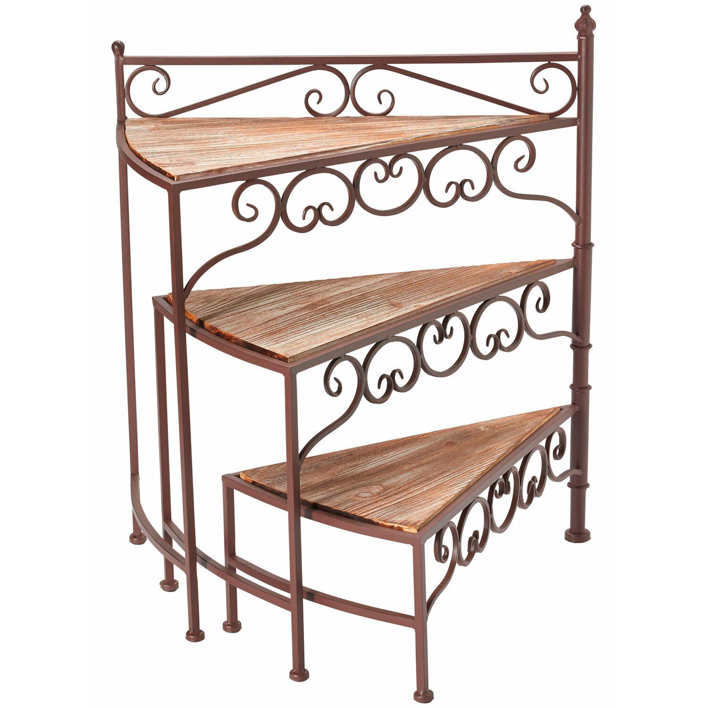 blumen treppe mit holzdekoration 65 cm dunkelbraun kaufen bei obi. Black Bedroom Furniture Sets. Home Design Ideas