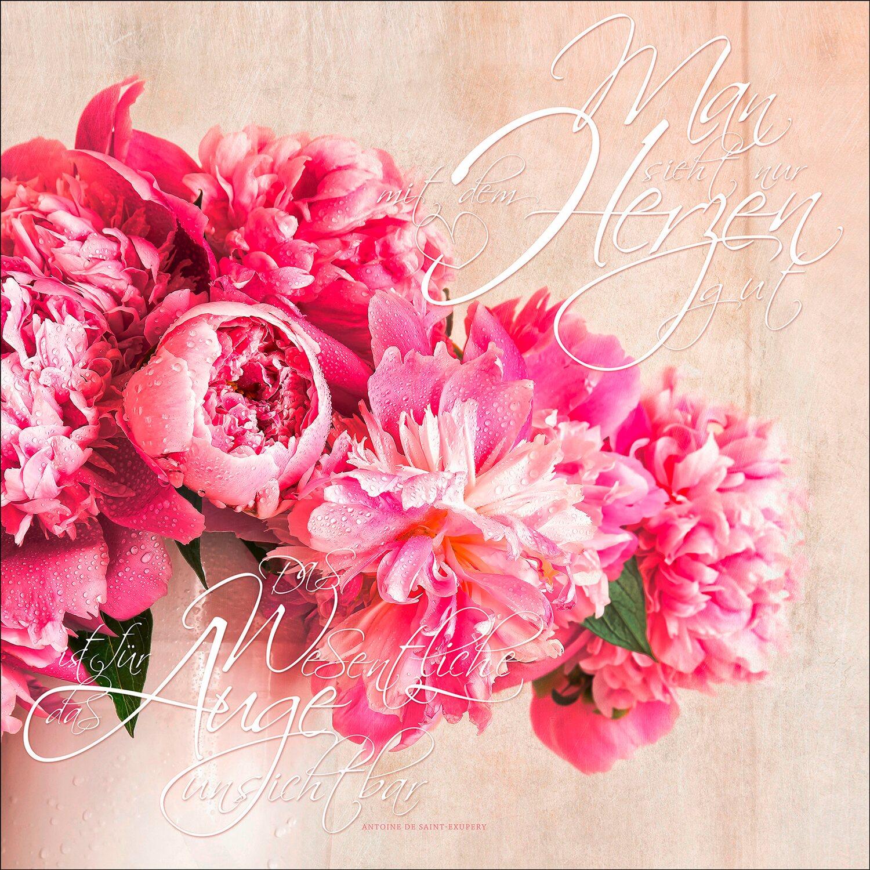 Leinwandbild romantische pfingstrosen 50 cm x 50 cm kaufen bei obi - Romantische dekoartikel ...