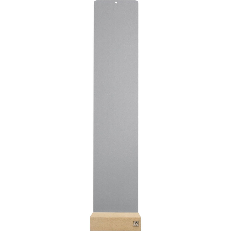 KalaMitica Metallplatte 14 cm x 70 cm Silber mit Holzsockel