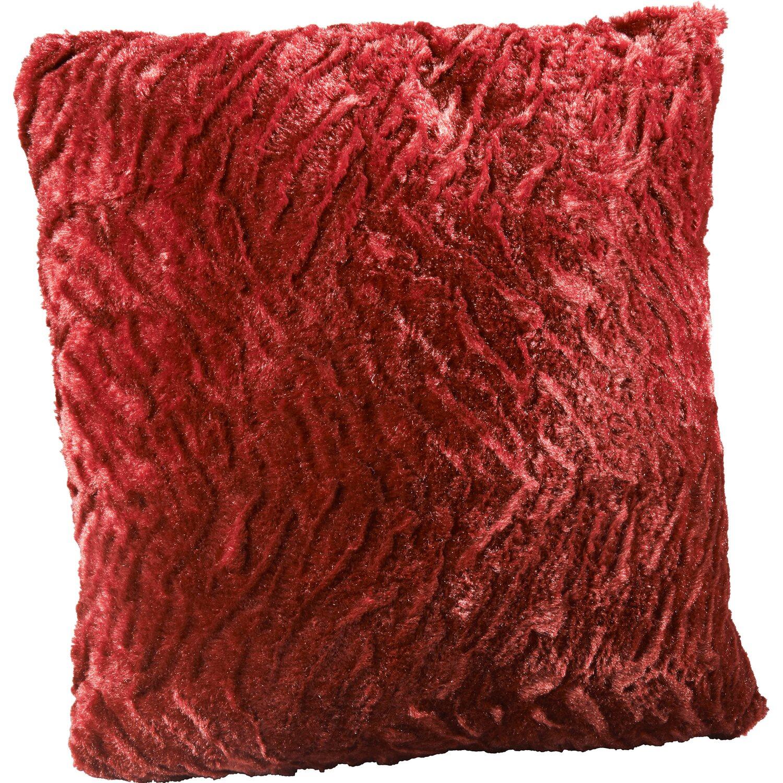 kissen flauschi rot 40 cm x 40 cm kaufen bei obi. Black Bedroom Furniture Sets. Home Design Ideas