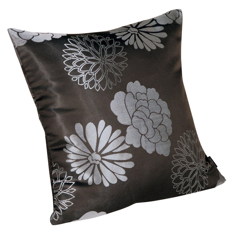 kissen mit rei verschluss dublin schwarz silber 50 cm x 50 cm kaufen bei obi. Black Bedroom Furniture Sets. Home Design Ideas