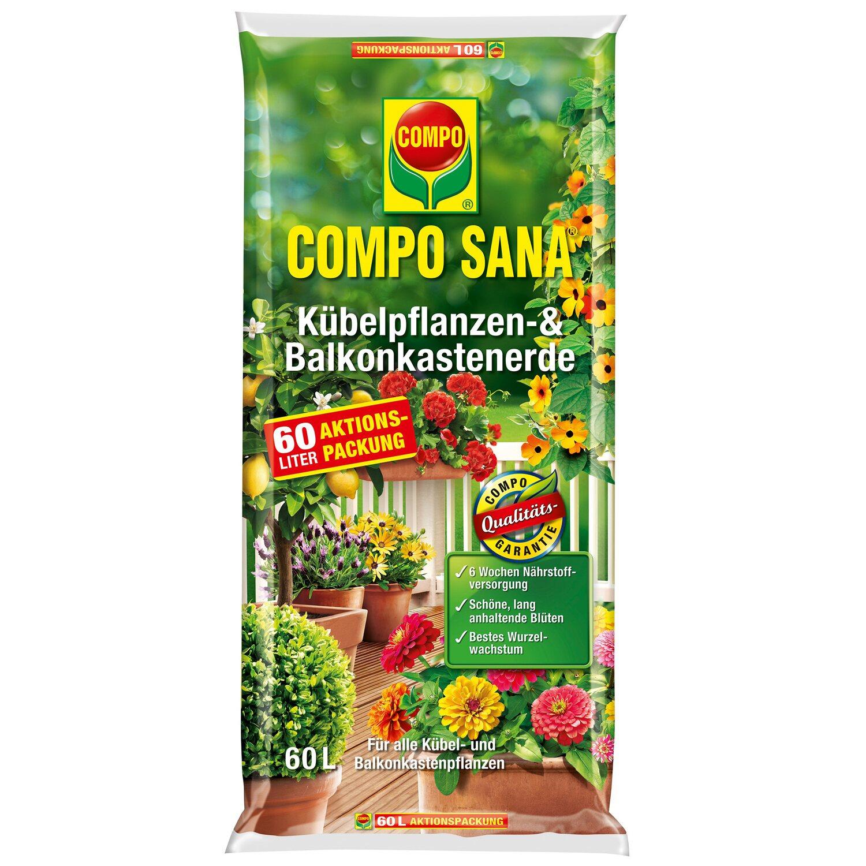 Compo Sana Kübelpflanzen- und Balkonkastenerde 1 x 60 l