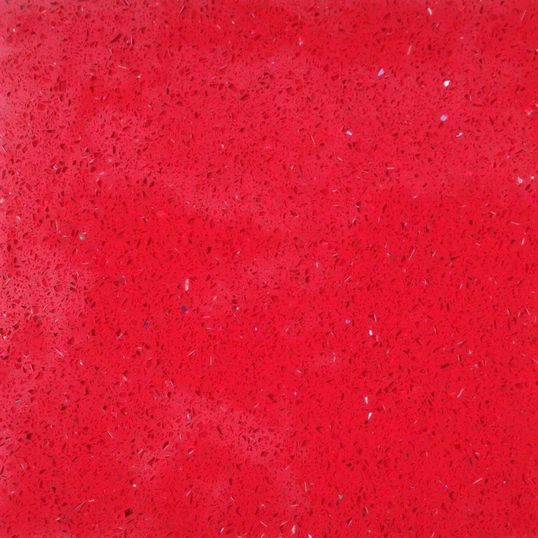 Sonstige Bodenfliese Quarzkomposit Rot 30 cm x 30 cm