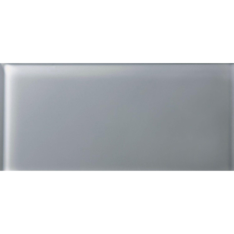Sonstige Wandfliese Glas Glossy Grau 30 cm x 60 cm