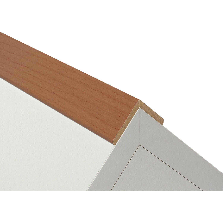 Winkelleiste Schutzwinkel Winkelprofil Tapeten-Eckleiste Abschlussleiste Abdeckleiste aus MDF in Eiche Klar 2600 x 32 x 32 mm
