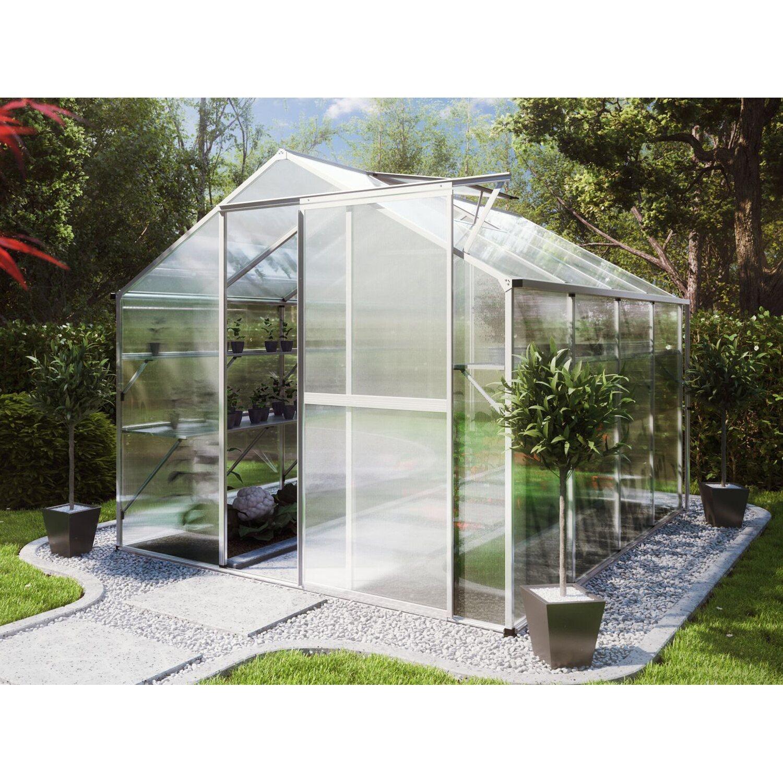 kgt gew chshaus flora iv hkp 6 mm alu blank kaufen bei obi. Black Bedroom Furniture Sets. Home Design Ideas