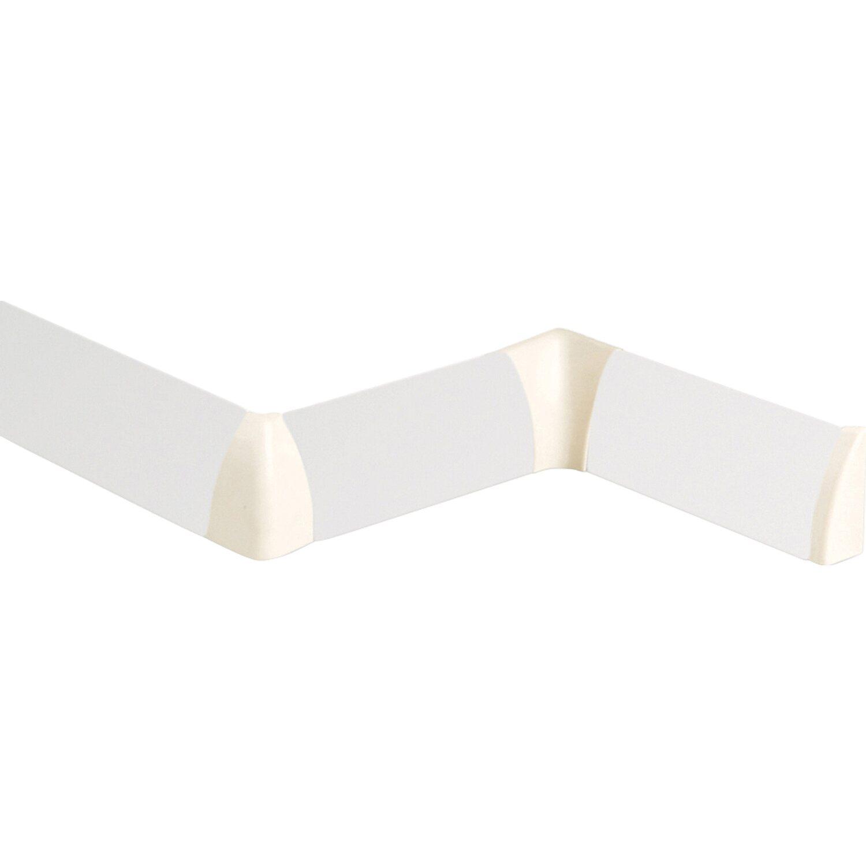 Elesgo  Außenecke für Rundsockelleisten Weiß