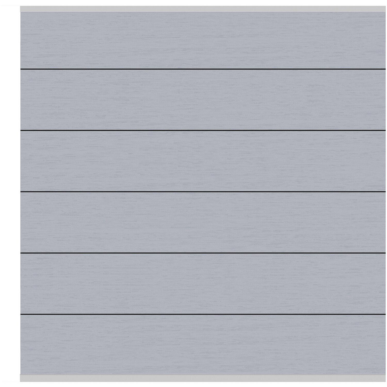 Sichtschutzzaun Element System Wpc Xl Grau Silber 178 X 183 Cm