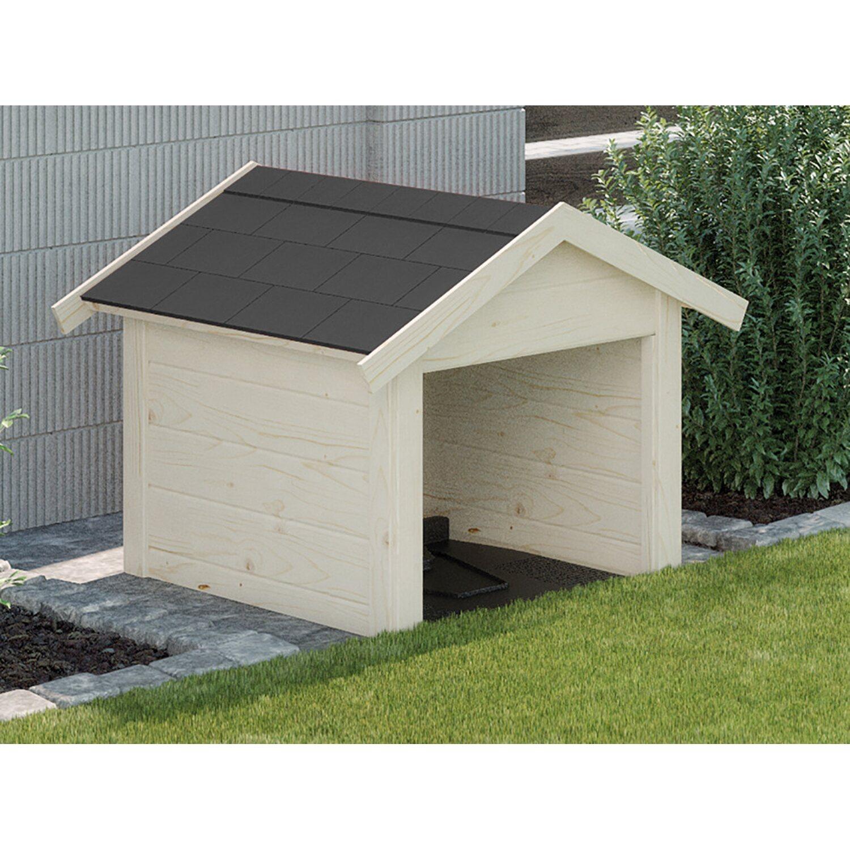 Weka Garage für Mähroboter/Rasenroboter Natur