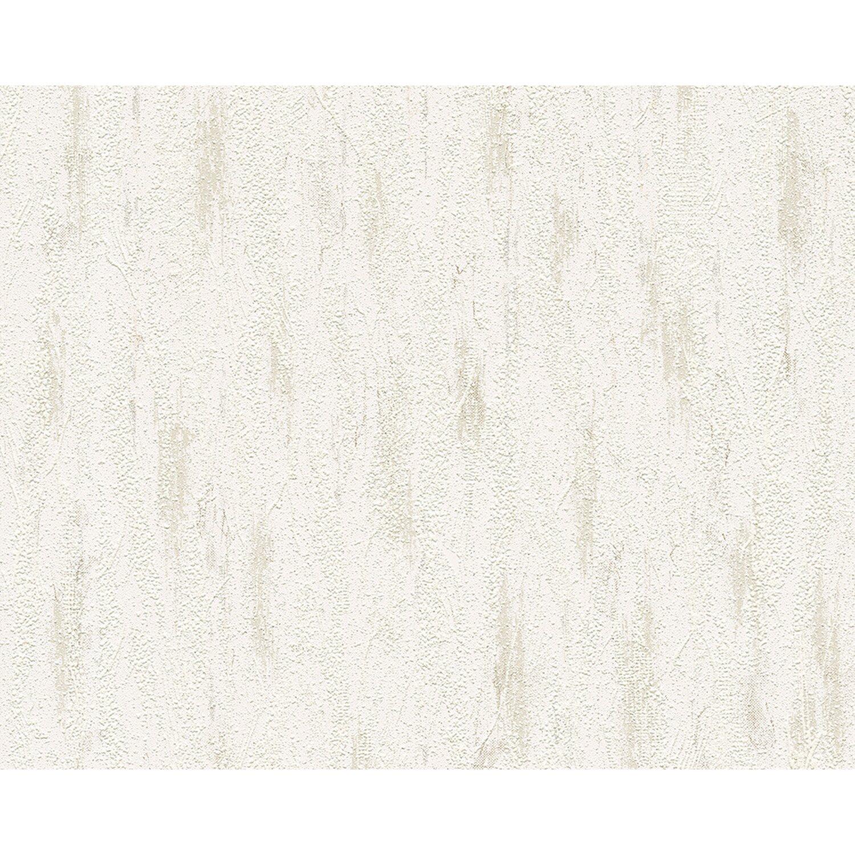 A.S. Creation Strukturprofiltapete Grau-Weiß