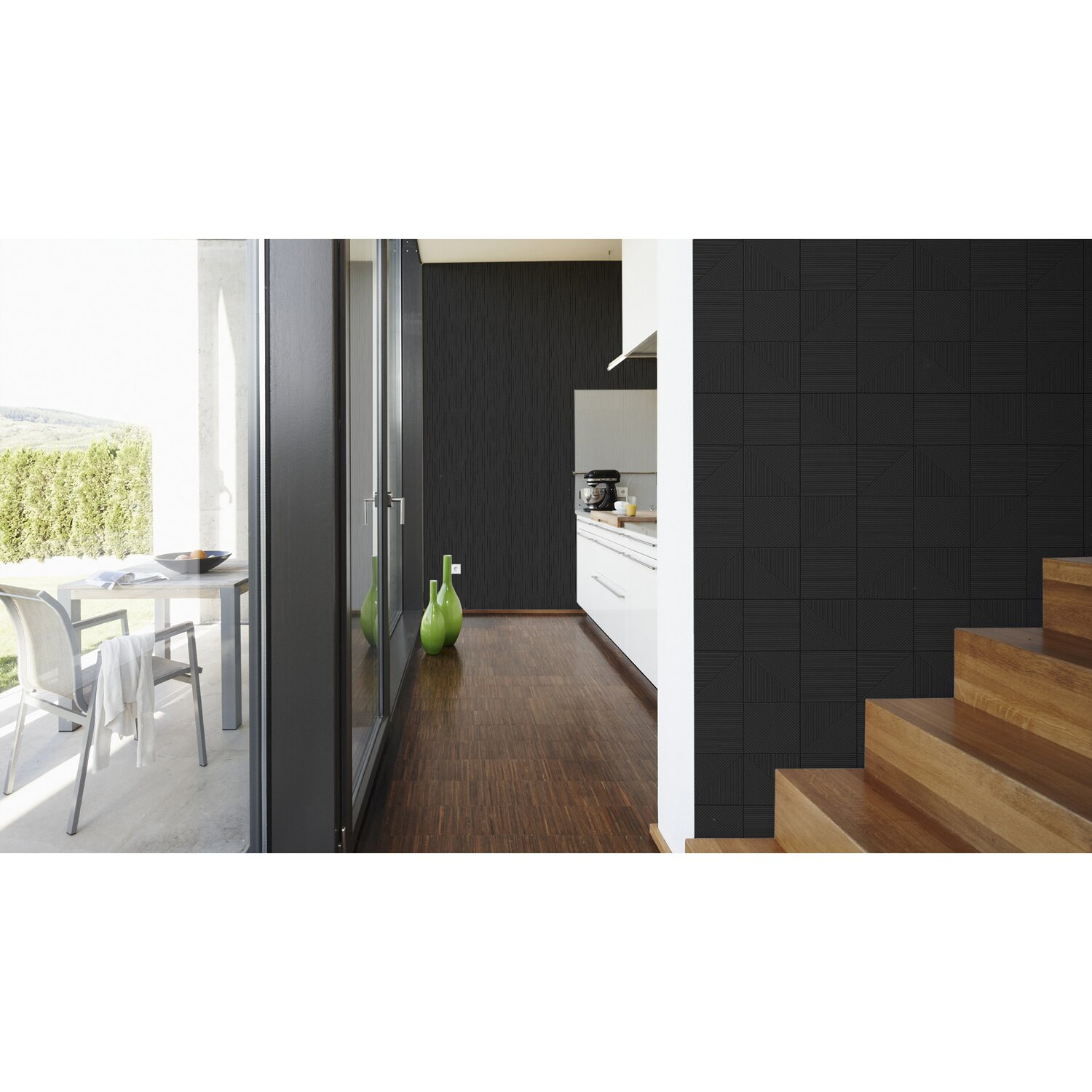 aisslinger vliestapete grafik schwarz kaufen bei obi. Black Bedroom Furniture Sets. Home Design Ideas