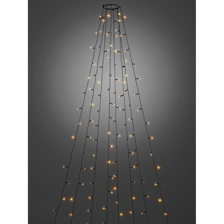 Konstsmide LED Baummantel 8 Stränge a 30 Lichter Glimmer Kabel ...