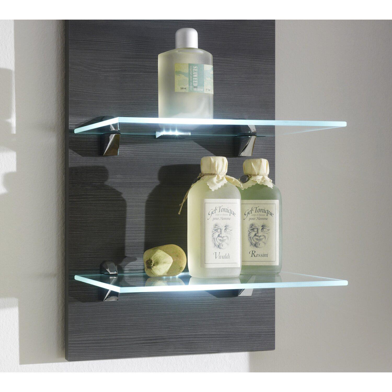 posseik wandregal marano hacienda mit beleuchtung eek a. Black Bedroom Furniture Sets. Home Design Ideas