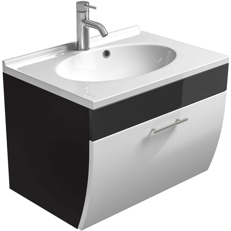 Posseik Waschplatz Salona 70 cm Anthrazit-Weiß