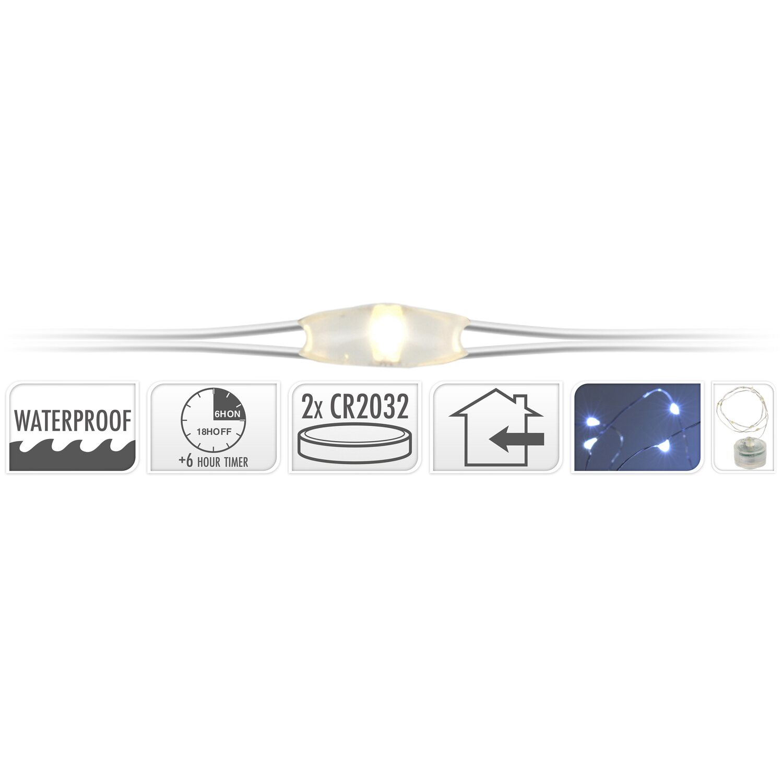 led lichterkette 20 kaltwei e leds silberdraht mit timer innen kaufen bei obi. Black Bedroom Furniture Sets. Home Design Ideas