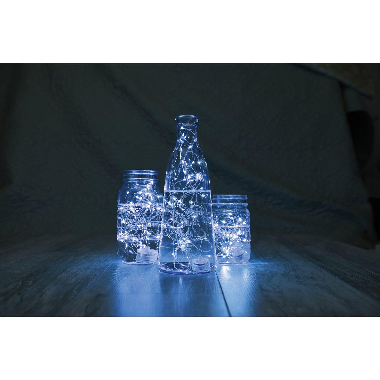Led lichterkette silberdraht 20 led kaltwei mit - Silberdraht kaufen ...