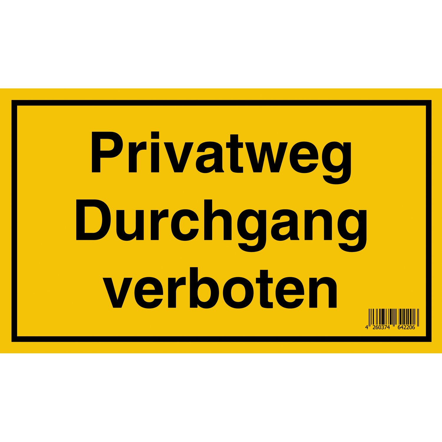 schild privatweg durchgang verboten 15 cm x 25 cm kaufen bei obi. Black Bedroom Furniture Sets. Home Design Ideas