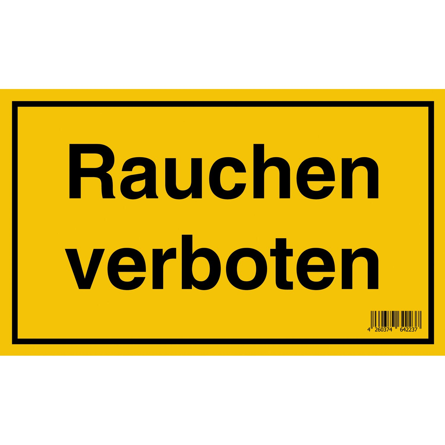 schild rauchen verboten 15 cm x 25 cm kaufen bei obi. Black Bedroom Furniture Sets. Home Design Ideas