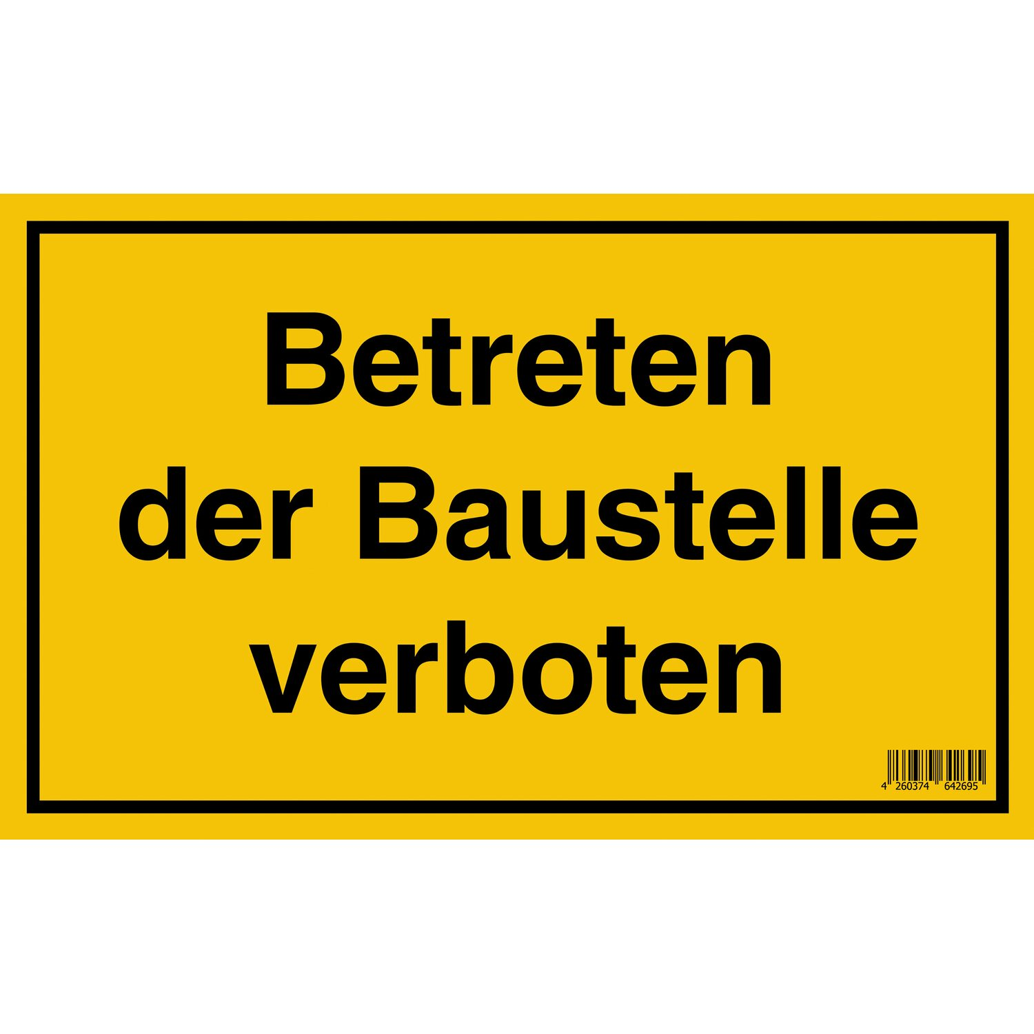schild betreten der baustelle verboten 25 cm x 40 cm kaufen bei obi. Black Bedroom Furniture Sets. Home Design Ideas