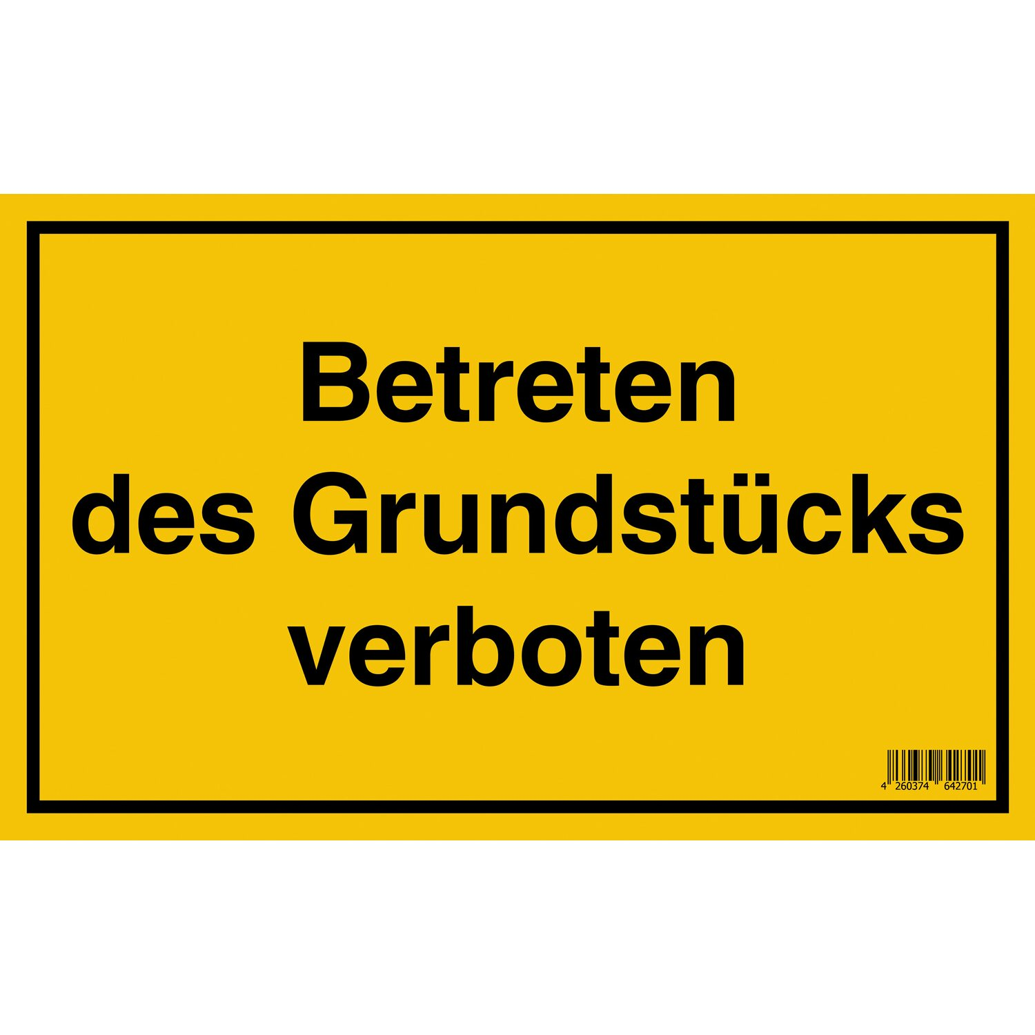 schild betreten des grundst cks verboten 25 cm x 40 cm kaufen bei obi. Black Bedroom Furniture Sets. Home Design Ideas