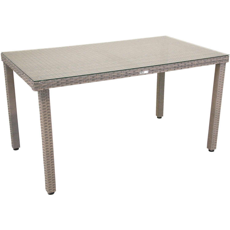 greemotion tisch manila mit glasplatte 140 cm x 74 cm x 80. Black Bedroom Furniture Sets. Home Design Ideas