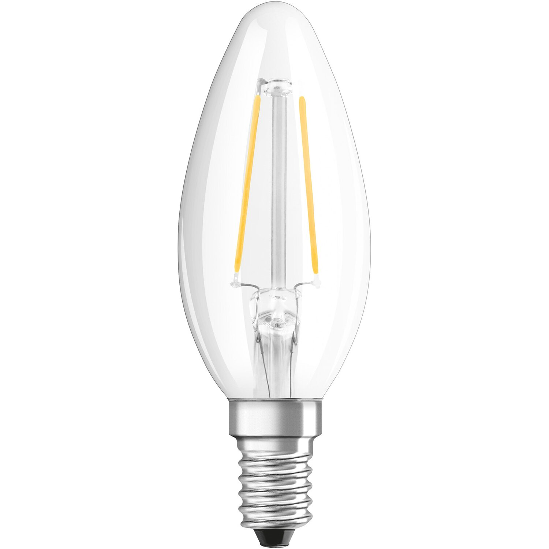 osram led filamentlampe 3er set kerzenform e14 4w 470 lm warmwei eek a kaufen bei obi. Black Bedroom Furniture Sets. Home Design Ideas