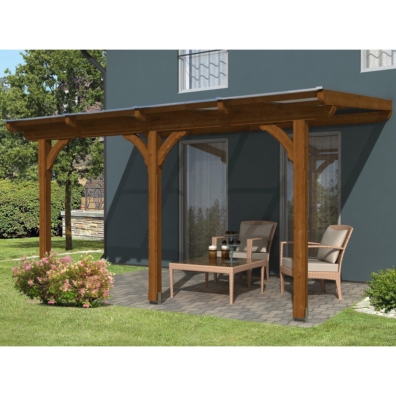 skan holz terrassen berdachung rimini 434 x 350 cm douglasie nussbaum kaufen bei obi. Black Bedroom Furniture Sets. Home Design Ideas